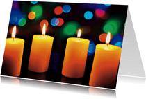Foto kerstkaart met kaarsen