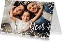 Foto Nieuwjaarskaart confetti liggend
