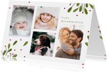 Foto-Weihnachtskarte in botanischem Look