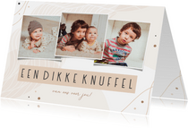 Fotocollage abstract dikke knuffel