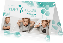 fotocollage met ballonnen en fotostrip