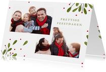Fotokaart collage met 2 foto's takjes en besjes