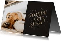 Fotokaart foto 'Happy New Year' fonkels