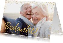 Fotokaart gouden bedankt confettI