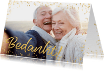 Fotokaart gouden Christmas confetti