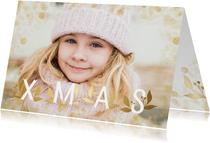Fotokaart grote foto XMAS goudlook met confetti