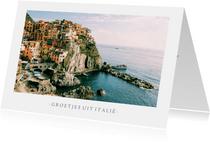 Fotokaart met 1 grote foto en aanpasbare tekst - vakantie
