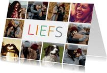 Fotokaart met 10 eigen foto's en Liefs