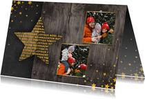 Fotokaart met 2 foto's meertalig sterren
