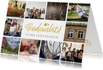 fotokaart met collage van 10 eigen foto's en bedankt