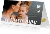 Fotokaart met grote eigen foto en liefste mama