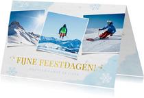 fotokaart met sneeuwvlokken 3 eigen foto's