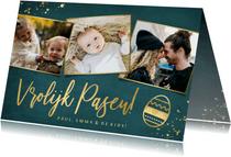 Fotokaart pasen stijlvol met ruimte voor 3 eigen foto's
