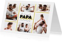 Fotokaart vaderdag de liefste papa dat ben jij