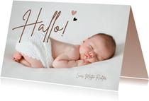 Fotokarte Danksagung zur Geburt