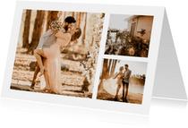 Fotokarte drei quadratische Fotos