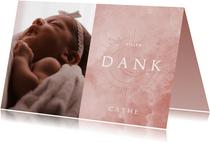 Fotokarte Geburt Mond & Sonne rosa
