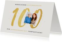 Fotokarte Glückwunsch zum 100. Geburtstag