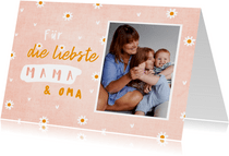 Fotokarte Muttertag für Mama und Oma