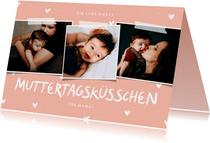 Fotokarte Muttertagsküsschen