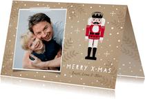 Fotokarte Weihnachten Nussknacker