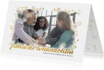 Fotoweihnachtskarte mit goldenem Rahmen