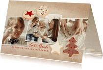 Fotoweihnachtskarte mit Weihnachtsplätzchen