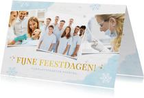 Frisse zakelijke kerstkaart voor de zorgsector met 3 foto's
