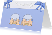 Geboortekaartjes - Geboorte Twee Wondertjes J - TbJ