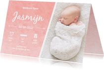 Geboorte waterverf Jasmijn - DH