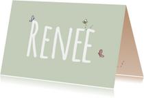 Geboortekaart Beestjes Renee LFZ