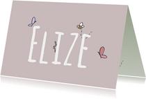 Geboortekaartje Beestjes - LFZ