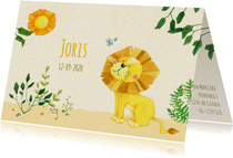 Geboortekaartje leeuw