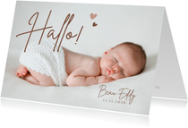 Geboortekaartje met je mooiste babyfoto