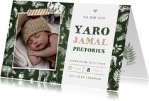 Geburtskarte Foto und Tierprint