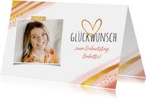 Geburtstags-Glückwunschkarte Foto & Herz