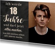 Geburtstagseinladung Alles machen mit 18