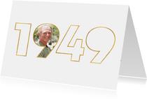 Geburtstagseinladung für den Jahrgang 1949