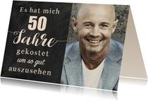 Geburtstagseinladung Gut aussehen 50
