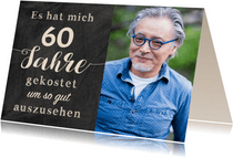 Geburtstagseinladung Gut aussehen 60