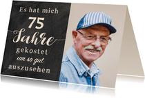 Geburtstagseinladung Gut aussehen 75