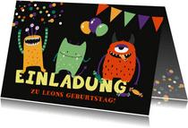 Geburtstagseinladung Kleine Monster