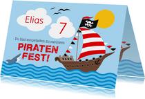Geburtstagseinladung mit Piratenschiff