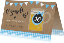 Geburtstagseinladung Oktoberfest Ozapft is