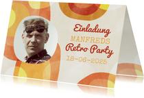 Geburtstagseinladung zur Retro Party mit Foto