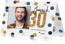 Geburtstagskarte 30. Geburtstag Konfetti & Foto