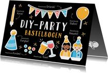 Geburtstagskarte DIY-Party-Bastelbogen