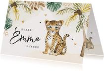 Geburtstagskarte kleiner Leopard