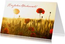 Geburtstagskarte Mohnfeld
