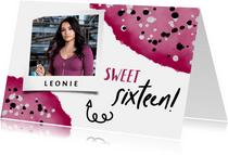 Geburtstagskarte Sweet sixteen mit Foto